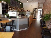Cafe opposite train station $347 rent, 4 p.m close